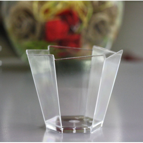 Verrine plastique Hexagonale transparent 10 cl