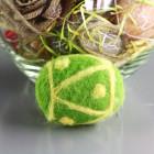 Oeuf décoration vert-jaune