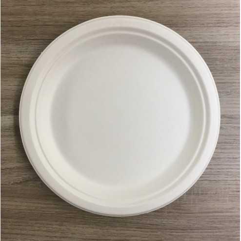 Assiettes en fibre rondes Bio 23 cm