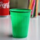 Gobelet plastique vert 20 cl