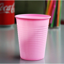 Gobelet plastique rose pastel 20 cl