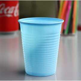 Gobelet plastique bleu pastel 20 cl