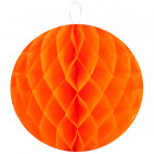 Boule décorative en papier orange 30 cm