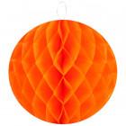 Boule décorative en papier orange 30 cm