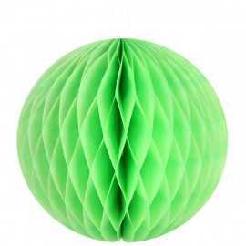 Boule décorative en papier verte 30 cm