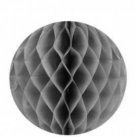 Boule décorative en papier grise 30 cm