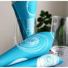 """Serviettes en papier """"Cercles"""" turquoise 38 x 38cm"""