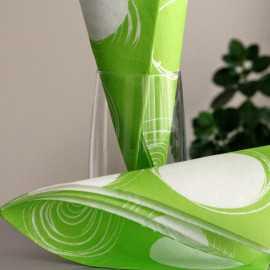 """Serviettes en papier """"Cercles"""" Vert anis"""