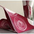 Serviettes en papier Cercles framboise 38 x 38 cm