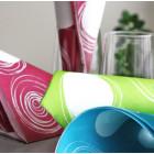 Serviettes en papier Cercles turquoise 38 x 38 cm