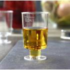 Mini verres à pied plastique transparent 5 cl