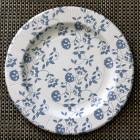 Assiettes carton compostables décor fleurs bleues 26 cm