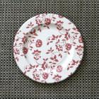 Assiette carton compostable décor fleurs rouges 20 cm