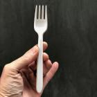 Fourchette en plastique blanc x 100