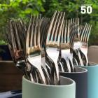 Fourchette en plastique imitation inox