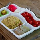 Plateau repas sans couvercle 5 compartiments