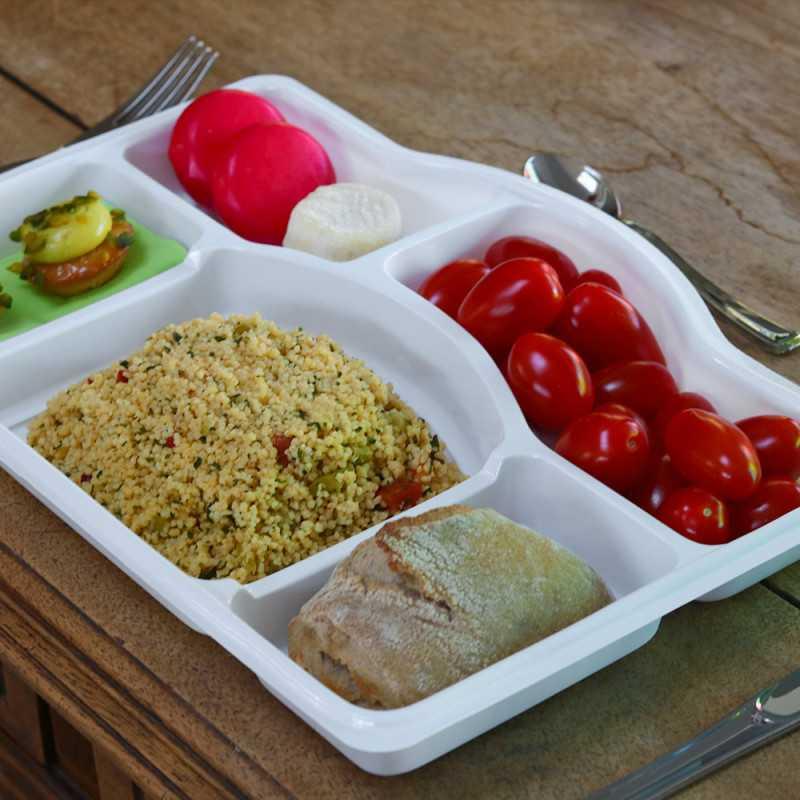 plateau repas sans couvercle 5 compartiments vaisselle. Black Bedroom Furniture Sets. Home Design Ideas