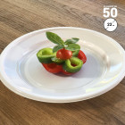 Assiettes plates rondes blanches style 22cm