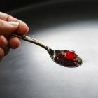 Cuillère à dessert en plastique imitation inox