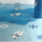 Chemin de table Bonhomme de neige 5 m