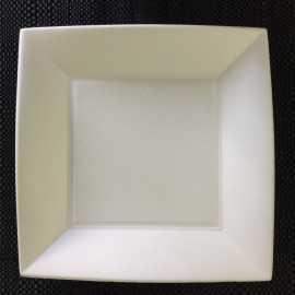 Assiette fibre Bio carrée 23 cm