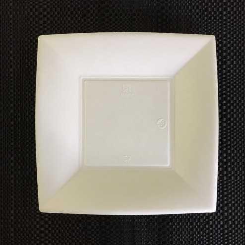 Assiette fibre Bio carrée 18 cm
