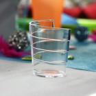 """Verrine plastique """"Ruban"""" transparent 6 cl"""