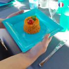 Assiettes en plastique carrées turquoise
