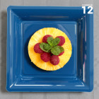 Assiettes en plastique carrées Bleu marine
