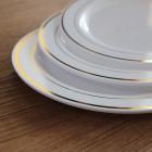Assiettes ronde liseré or 19 cm
