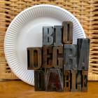 Assiettes biodégradables rondes 23 cm