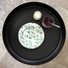 Assiettes Bio compostables décor vert 20 cm