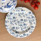 Assiettes Bio compostables décor bleu 26 cm