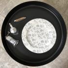 Assiette Bio compostable décor gris 26 cm