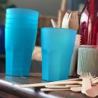 Verre cocktail en plastique turquoise 42 cl