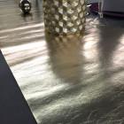 Chemins de table imitation cuir or
