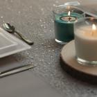 Chemins de table Glitter Argent