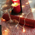 Chemins de table Glitter Rouge