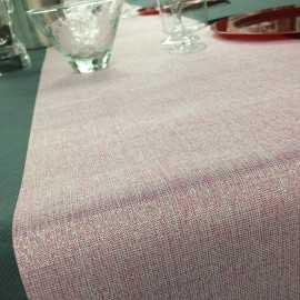 Chemins de table tissu Rose 5 mètres