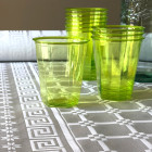 Verre en plastique opaline vert anis 25 cl