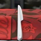 Couteau en plastique blanc