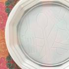 Assiette plate ronde blanche design 22 cm x 100