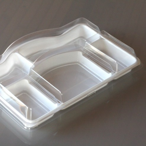 Plateau repas avec couvercle 5 compartiments