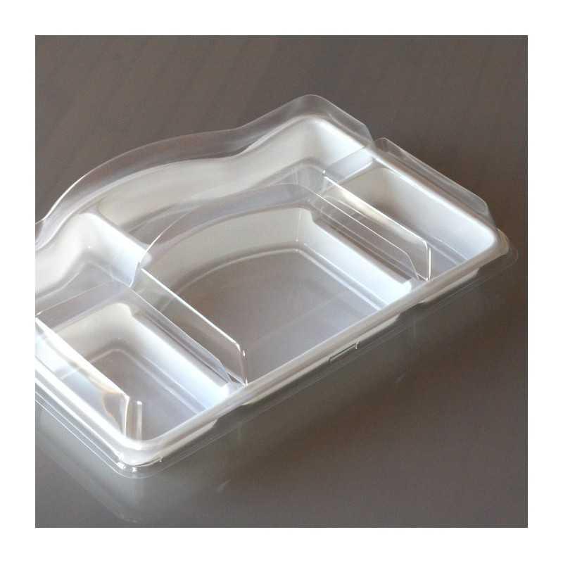 Plateau Repas Avec Couvercle 5 Compartiments Vaisselle