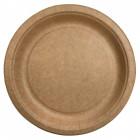 Assiettes biodégradables Kraft 22 cm