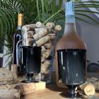 Verre à vin cristal noir 16 cl. Recyclable. Par 10