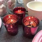 Photophore de table Fuchsia