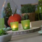 Photophore de table Summer vert lime