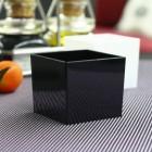 Verrine amuse-bouche plastique carrée noire