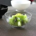 Mini-coupelle en plastique design transparente